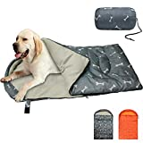 KUDES Dog Sleeping Bag Waterproof Warm Packable Dog Bed Mat with Storage Bag for Indoor Outdoor Travel Camping Hiking Backpacking (43''Lx27''W)