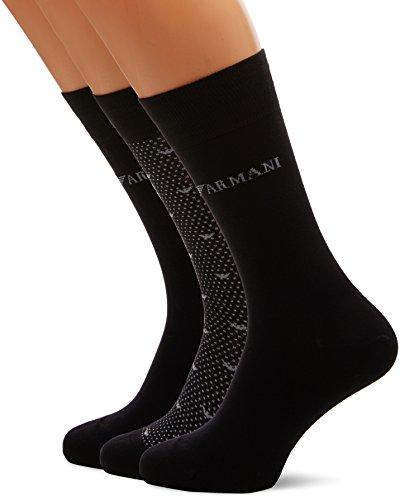 Emporio Armani Underwear Herren 3024027A292 Sportsocken, Schwarz (Nero 00020), One Size (Herstellergröße: TU)