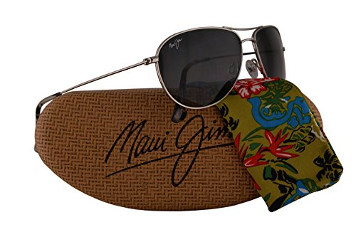Maui Jim Sea House gafas de sol w/polarizados lente gris neutro MJ772-17 unisex-adulto Plata Grande