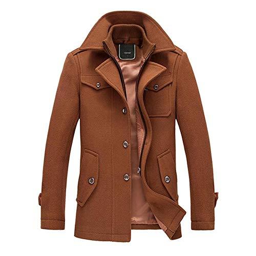 YOUTHUP Cappotti per Uomo Giacche di Lana Elegante Trincea Cappotto Invernale Regular Fit