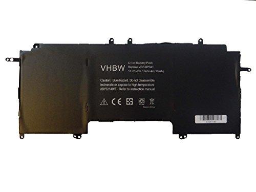 vhbw Li-ION Batterie 3140mAh (11.25V) pour Ordinateur Portable, Notebook Sony Vaio Flip 13 SVF13N, Flip 13 SVF13N13CXB comme VGP-BPS41.