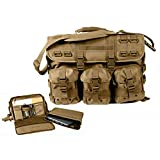 MWS Coyote MOLLE Tactical Military Laptop Field Briefcase Shoulder Bag