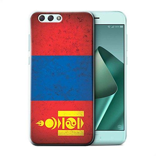 Stuff4® Hülle/Case für Asus Zenfone 4 ZE554KL / Mongolei/Mongolisch Muster/Asien Flagge Kollektion