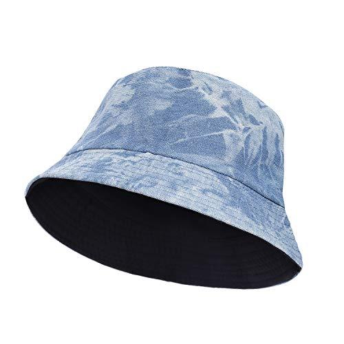 RZKJ-SHOP Sombrero del Pescador Algodón Plegable Bucket Hat Redondo Sombreros de Pesca Mujeres Hombres Actividades Al Aire Libre Visera para Playa Viaje Senderismo Camping