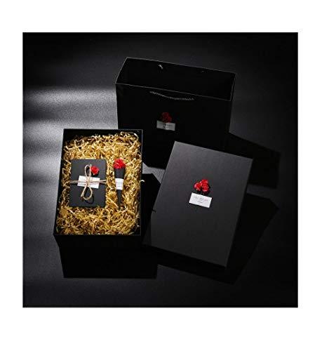 Waterglazen geschenkdoos, mok geschenkdoos, kerstgeschenkdoos, zwart minimalistisch 30 * 10 * 10 cm A2