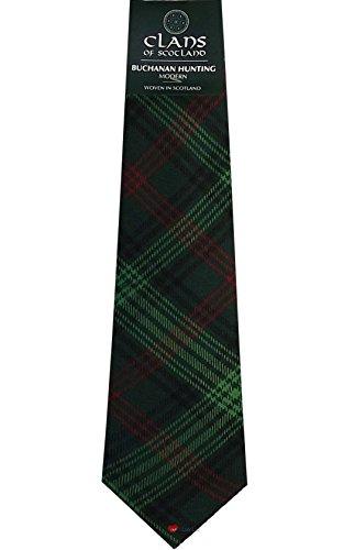 I Luv LTD Buchanan Hunting Clan 100% Wool Scottish Tartan Tie