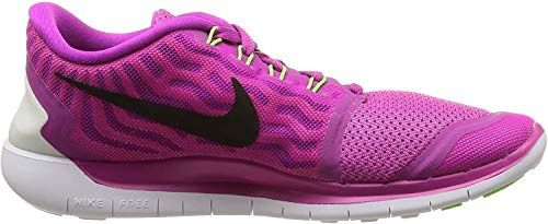 Nike Free 5.0  Damen Laufschuhe,Mehrfabig (Fuchsia Flash/Black-Pink Power-Hot lava),36.5 EU