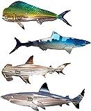 Bedspread Decoración de esculturas de Pared de tiburón, decoración de...