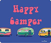 Happy Camper Funny Vintage Campers Thick Mouse Pad by Atomic Market [並行輸入品]