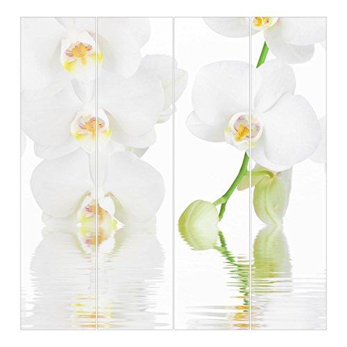 Bilderwelten Schiebegardinen Wellness Orchidee - Ohne Aufhängung, 4X 250 x 60cm