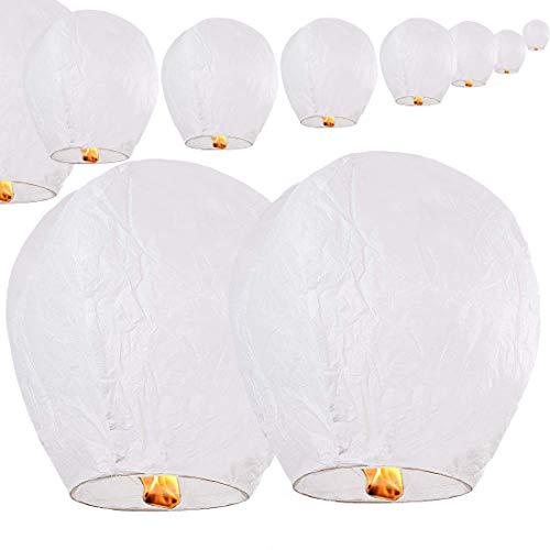 Chinese Sky Wish Lanterns Biodegradable (White) (10)