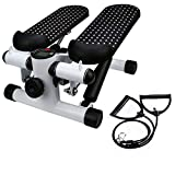 Yirise Fitness Stair Stepper, Fitness Mini Stepper with Resistance Bands Household Hydraulic Mute Stepper Multi-Function Pedal Indoor Sports Stepper Legs