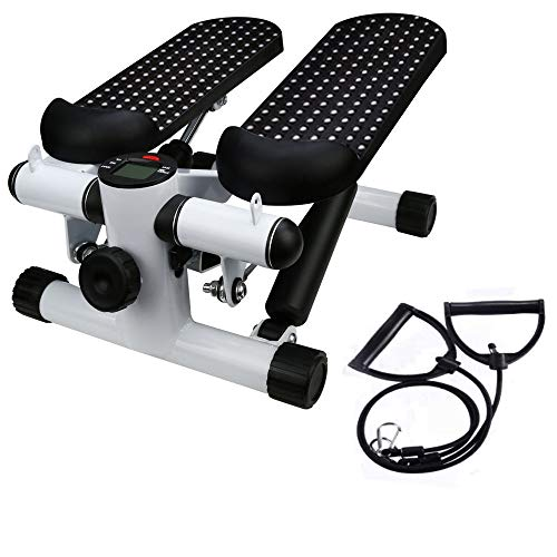 Best Deals! BONJIU Office Stepper, US in Stock Health Fitness Mini Stepper with Band, Household Mute Stepper Multi-Function Pedal Indoor Sports Stepper Legs Training Exercise Machine Equipment
