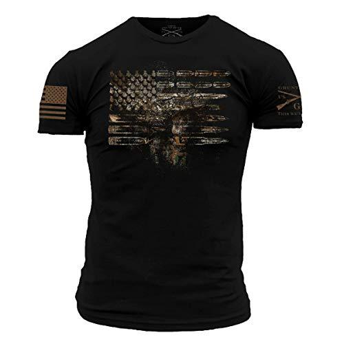 Grunt Style Realtree Edge- Ammo Flag Men's T-Shirt (Black, Large)