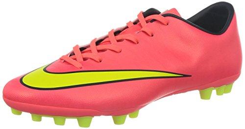 Nike Herren Mercurial Victory V AG Fußballschuh, neonrot/Neongelb, 42 EU