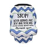 Bousse d'allaitement Elastique Baby Car Seat Cover Baby Nursing Cover Breastfeeding Cover avec Avertissement de Sécurité Aucun Signe de Toucher pour Poussette Chaise Haute Panier d'achat