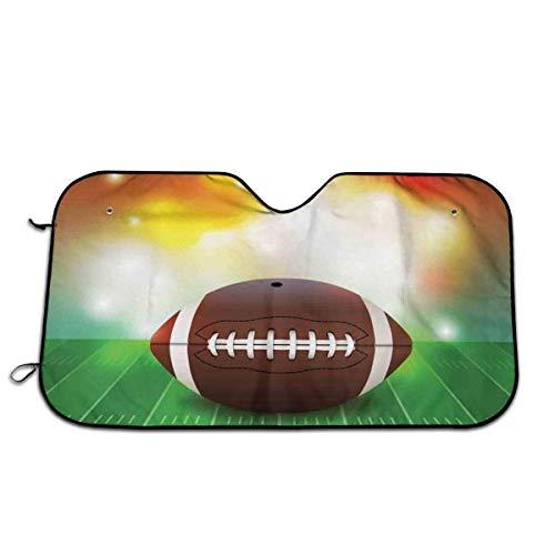 Llynice American Football Ball mit warmen Eigenschaften auf Grasfeld, Team-Grafik, Frontscheibe, Sonnenschutz für das Auto