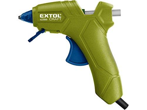 Extol craft, Pistola per colla a caldo, 25W, 200gradi Celsius, 1pezzi, verde, 422000