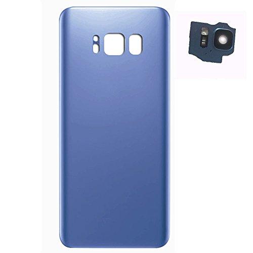 UU FIX Tapa de Batería para Samsung Galaxy s8 Plus (Azul) de la Reemplazo Parte Trasera Battery Cover con Kit Reparación.