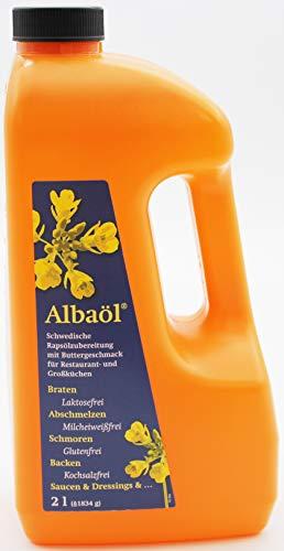 Albaöl Schwedische Rapsölzubereitung mit Buttergeschmack, 1 x 2 Liter Flasche