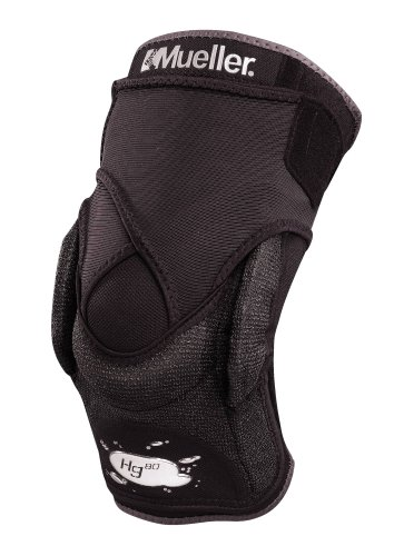 Mueller Bandage Hg80 Kniebandage mit Kevlar und Gelenk, schwarz, M: 35 - 40 cm