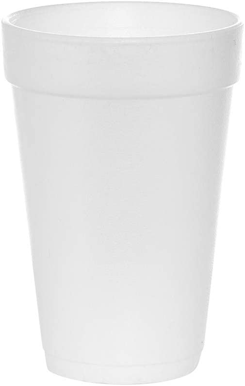 100 Count unisex 16 oz White Drinking Cups Mesa Mall Disp Foam Styrofoam