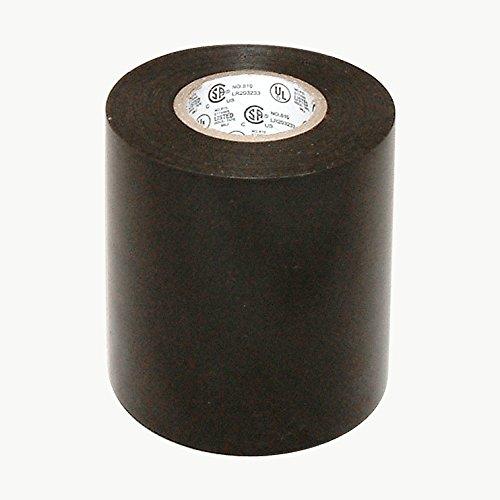 "JVCC EL7566-AW Premium Grade Electrical Tape, 66' Length x 4"" Width, Black"