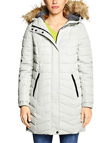 Cecil Damen 100550 Mantel, Weiß (Off White Melange 11111), Large(Herstellergröße:L)