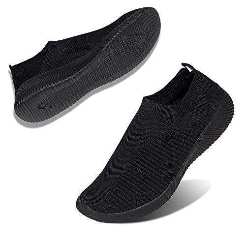 Mujer Zapatos Caminar Amplio Zapatillas Entrenador