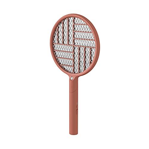 AHIN Elektrische Moskito Fliegenklatsche klappbare Fliegenfänger Insekten Mörder mit 9 lila LED-Lampenperlen 3500 V Ausgangsspannung Zwei Verwendungsmodi dreischichtiger Netzschutz,Rosa