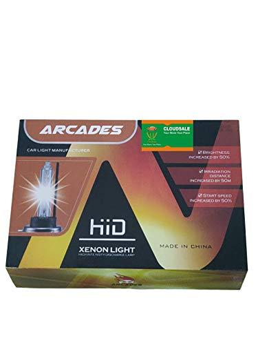 Cloudsale arcades hb3/9005 hid xenon light kit bulbs 6000k high intensity discharge kit conversion xenon light for bikes cars (35 watt)(6 months warranty)