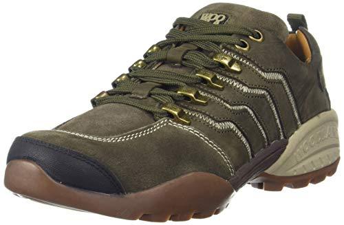 Woodland Men's Leather Sneaker-8 UK (42 EU) (9 US) (GC 2869118_Olive Green)