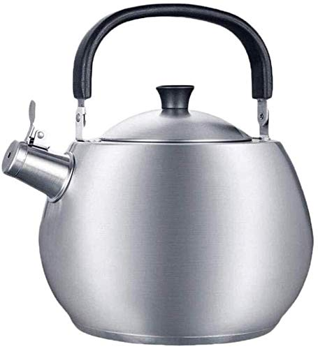 Bouilloire Cuisine Théière Automatique 4.5L Sifflet Épaissir 304 Acier Inoxydable Induction Gaz Général Restaurants à la Maison Office Outdoor XMJ