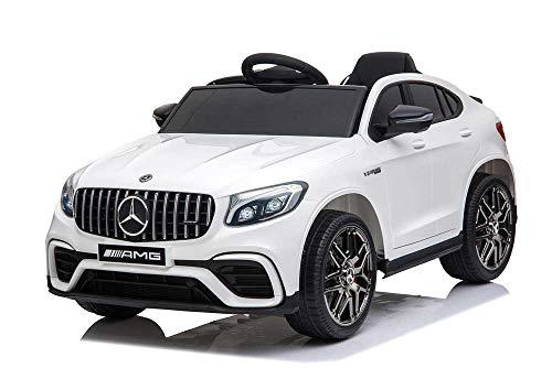 Babycar Mercedes GLC Coupe' 63 AMG ( Bianca ) Nuova Versione Macchina Elettrica per Bambini Ufficiale con Licenza 12 Volt Batteria con Telecomando 2.4 GHz Porte Apribili con MP3 Sedile in Pelle