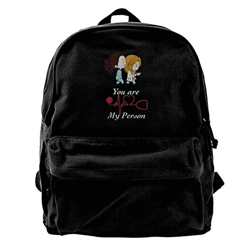 You Are My Person,Greys Anatomy Backpack For School,Fashion Bag Backpack For Womens Mens Boys Girls