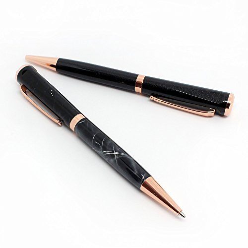 Black Marble & Rose Gold Ballpoint Pens For Women -, used for sale  Delivered anywhere in UK