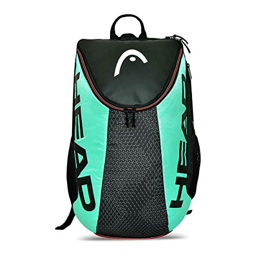 HEAD Unisex's Tour Team Backpack Tennis Bag, Black/Teal, One Size