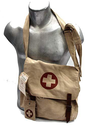 Ultra Force Nato Canvas Medic Messenger Bag - Khaki