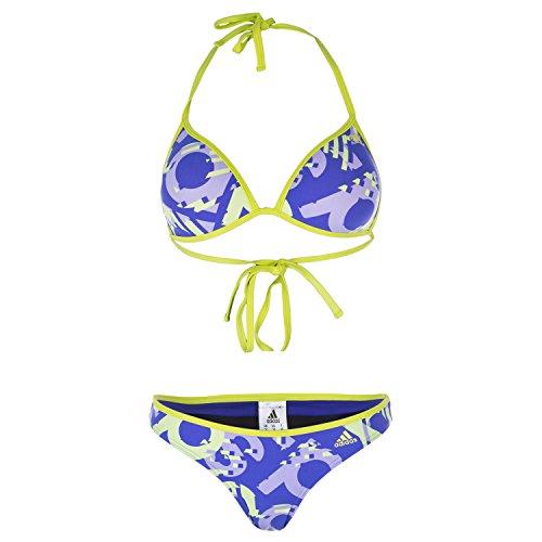adidas, Allover-Aufdruck, Triangel, Bikini, Damen, violett