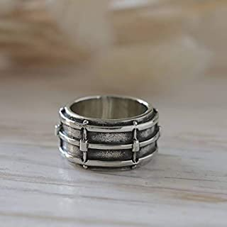 Snare Drum Ring Sterling Silver Jewelry musical instrument guitar piano Bass