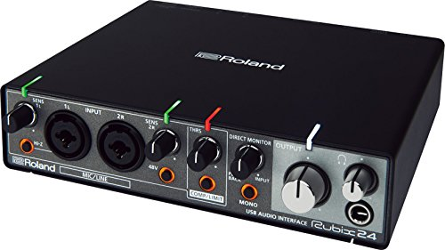 Roland rubix24 luz orientable en riel Rubix 24 USB interfaz de audio...