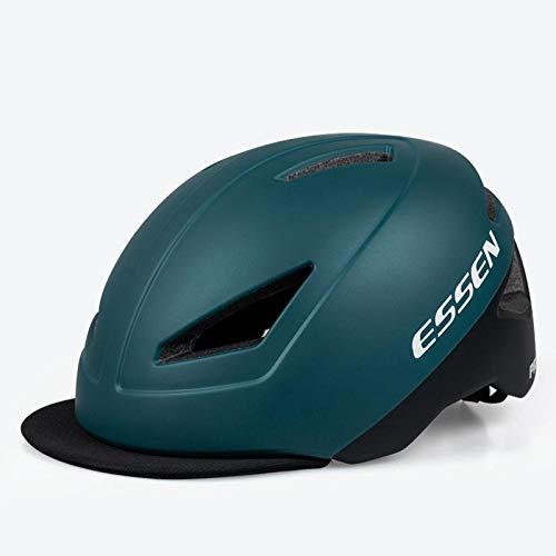 Sommer Pendler Batterie Auto Fahrradhelm leichte Unisex-Fahrsicherheitshut-_Matte blau und schwarz eine Größe