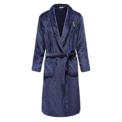 GYPPG Herbst/Winter Männer Nachthemd Kimono Bademantel Kleid Coral Fleece Intime...