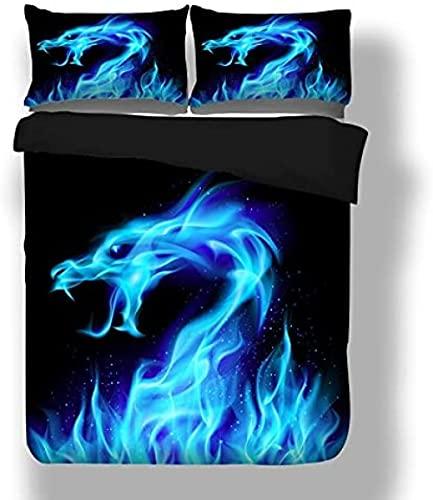HSBZLH Tagesdecke Dragon Design Sehr Weicher Stoff Bettbezug Set Bettwäsche-Sets Beinhalten Bettbezug Kissenbezüge