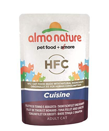 Almo Nature Classic cibo per gatti Cuisine tonno filetto e aragosta, (confezione da 24 x55g)
