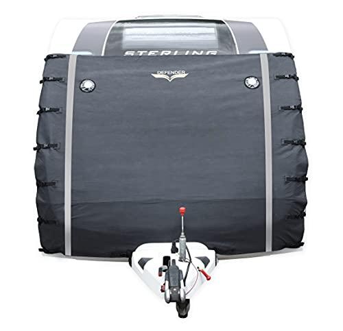 Caravan Defender Universal Front Towing Cover Protector Covers Accessories Dark Grey.