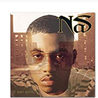 New Nas It Was Written Rapper Hip Hop Music Cover Album Posters Art Canvas Home Room Wall Print Decor Print on canvas60x60cm unframed