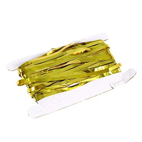 HaiQianXin Geburtstag Hochzeitsfest wiederverwendbare Folie Lametta Fransen Vorhang Tür Zimmer hängende Dekoration (Color : Gold, Size : 3M)
