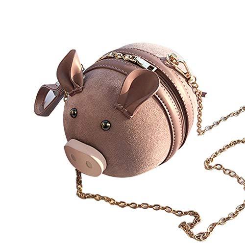 Bulary Borsa A Tracolla Carino A Forma di Maiale alla Moda Scrub PU Singolo Tracolla Borsa A Tracolla Borsa A Tracolla Piccola per Le Ragazze