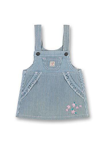 Sanetta Baby-Mädchen Dress Woven Kleid, Blau (Cloud Blue 9538), 86 (Herstellergröße: 086)